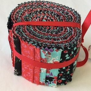 VintGe floral jelly roll fabric